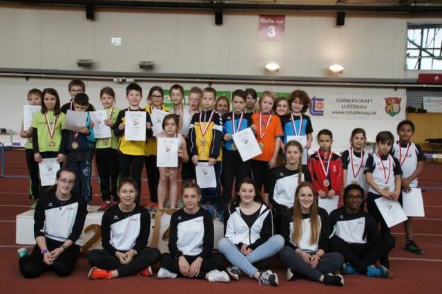 6. KIDS ATHLETICS Mannschaftswettbewerb in der Leichtathletikhalle in Dornbirn.